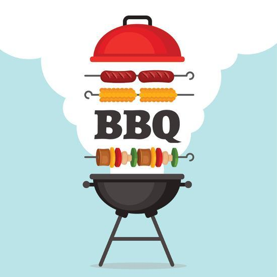 bbq-party-background-with-grill-and-fire-barbecue-poster-flat-style-vector-illustration_u-l-q1bugh40
